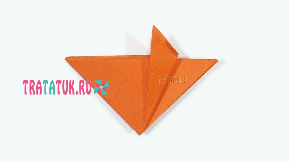 Оригами лис