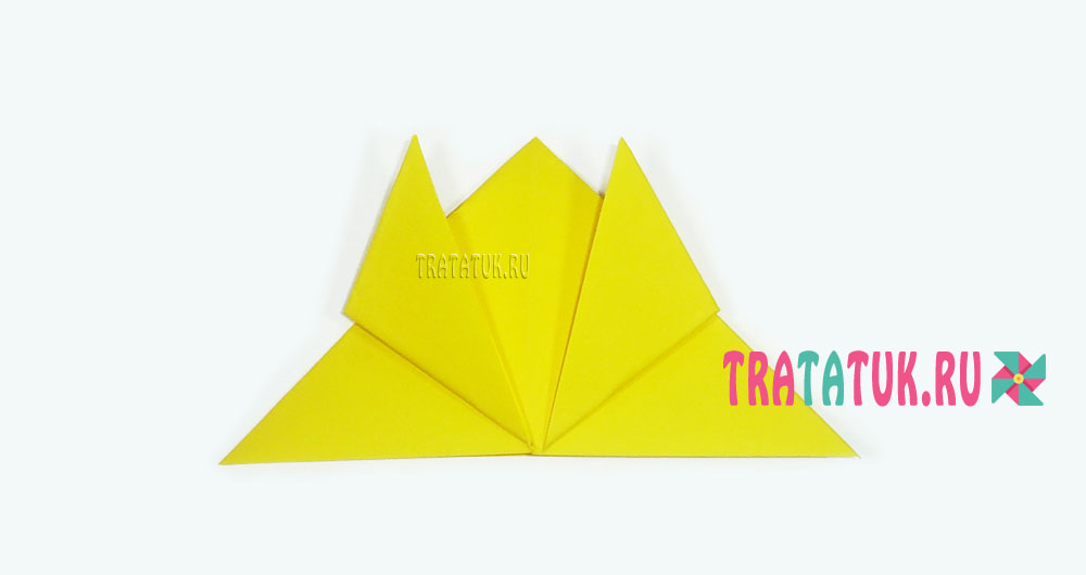 Одуванчик оригами