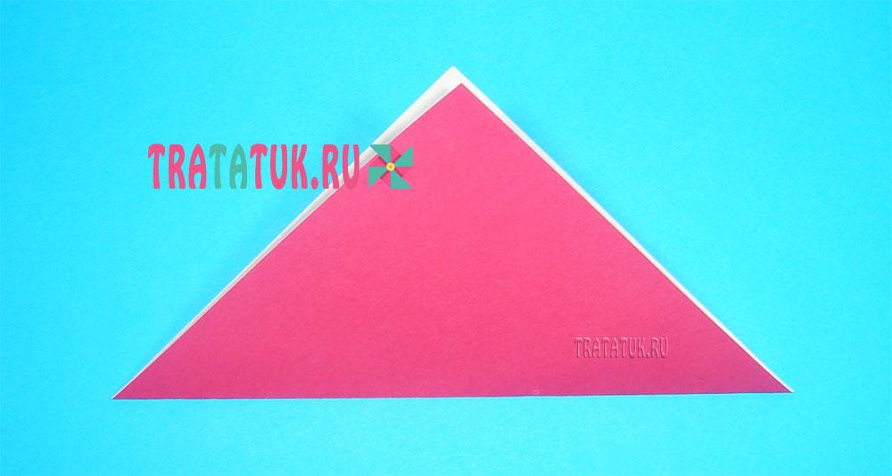 Оригами девочка из бумаги