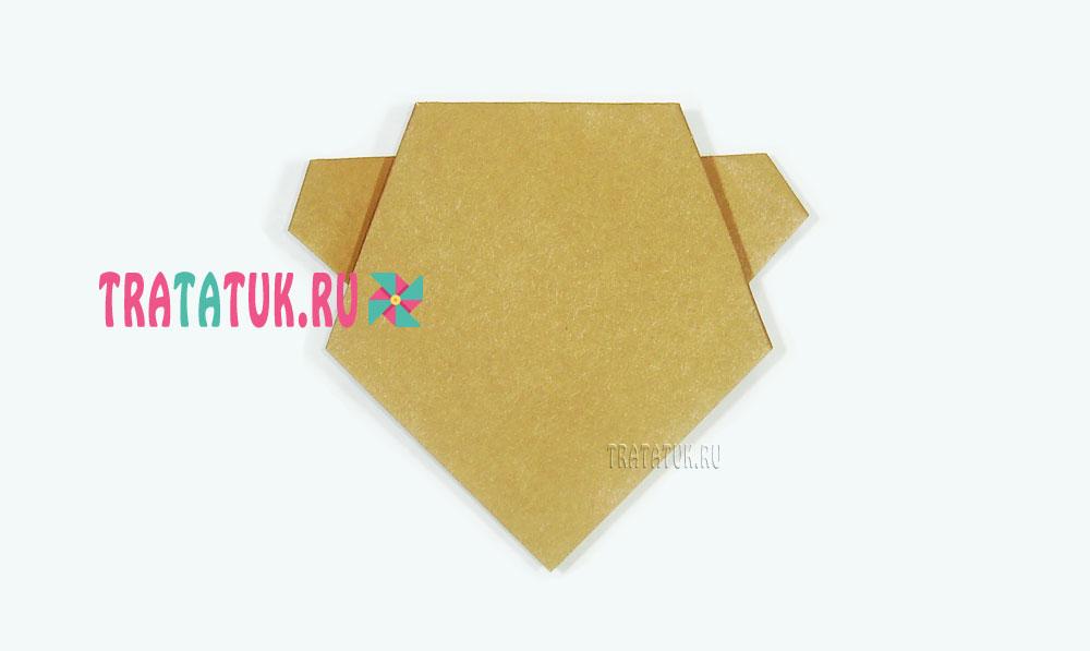Оригами голова медведя