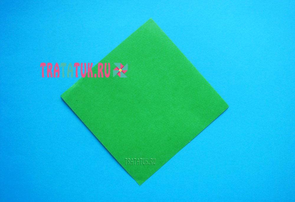 Оригами трава