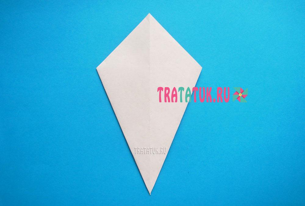 мухомор оригами