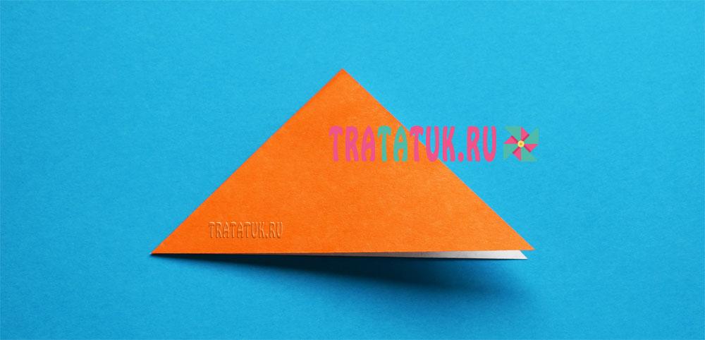оригами воробей