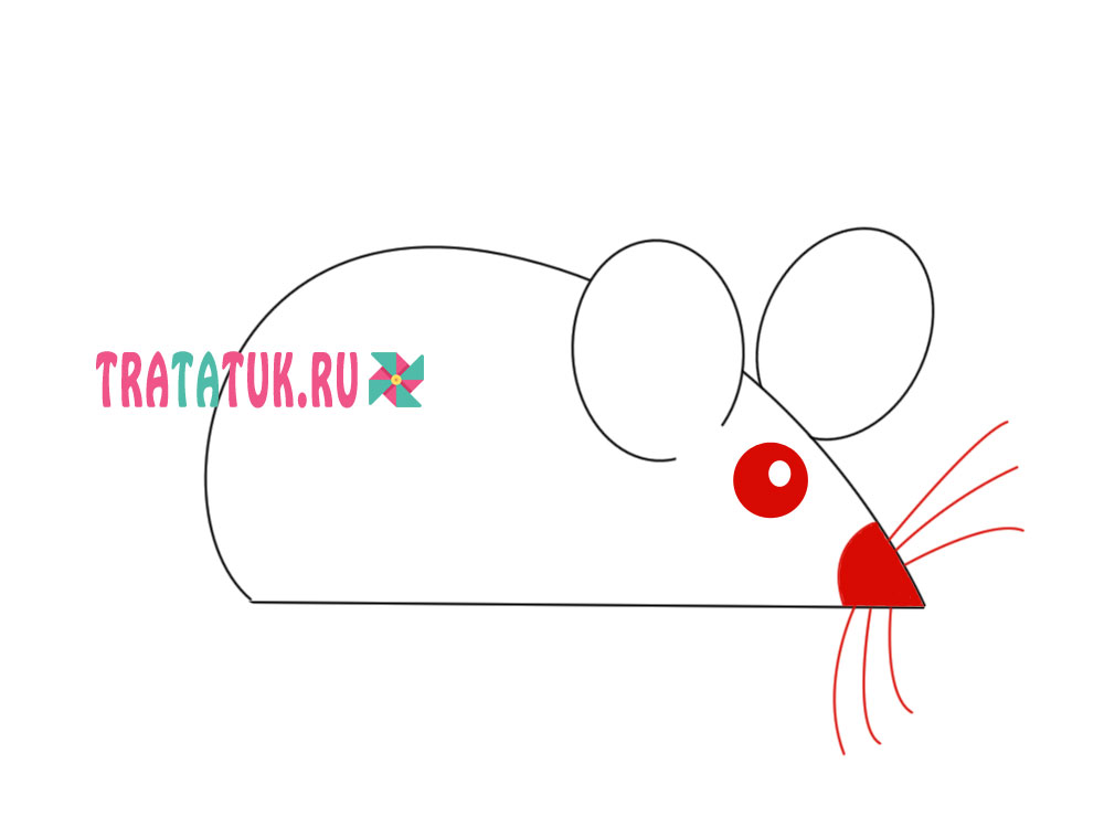 Как нарисовать мышь