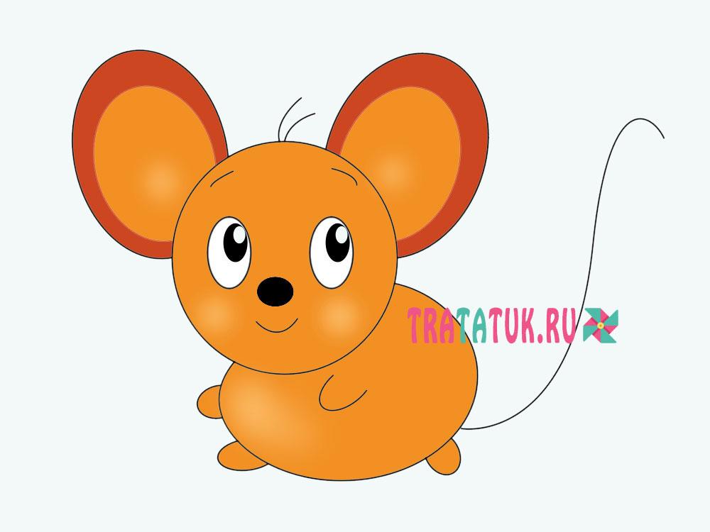 Как нарисовать мышь для детей
