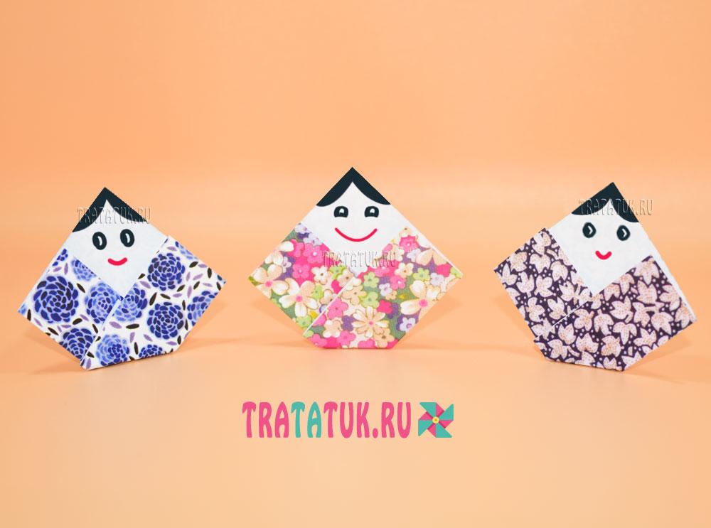 японская кукла оригами