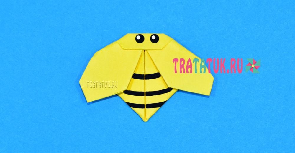 оригами оса