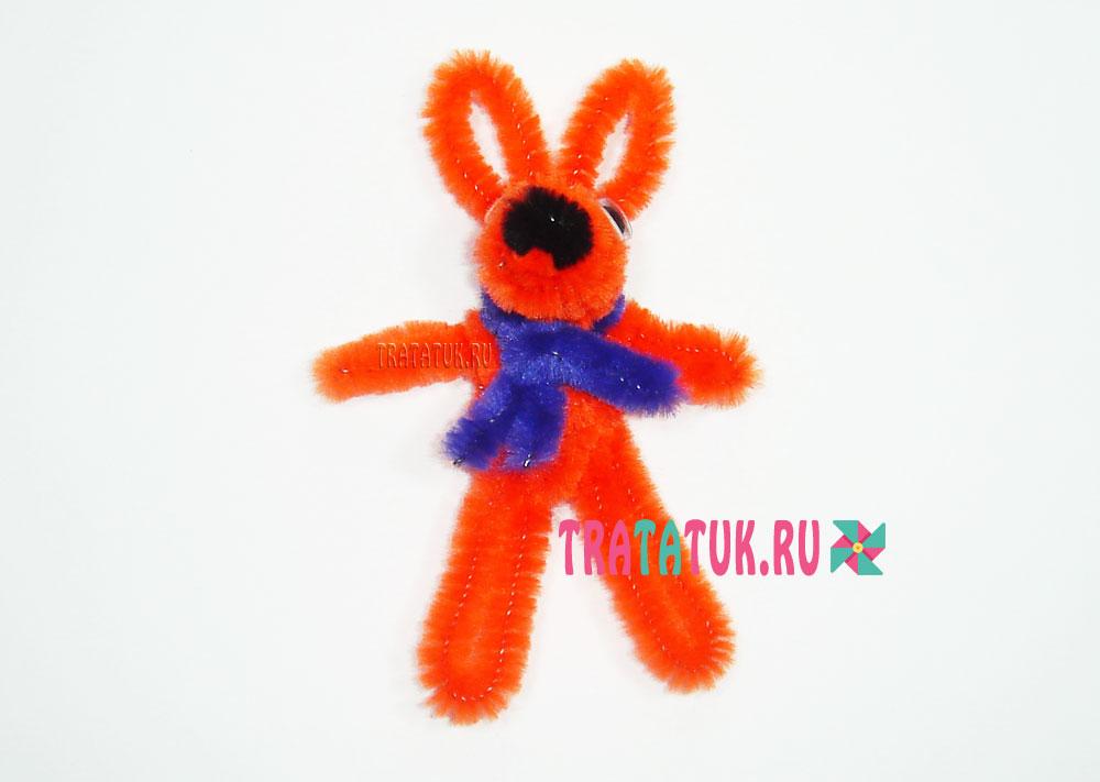 Заяц из синельной проволоки