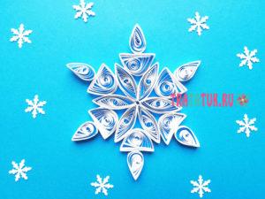 Квиллинг снежинки