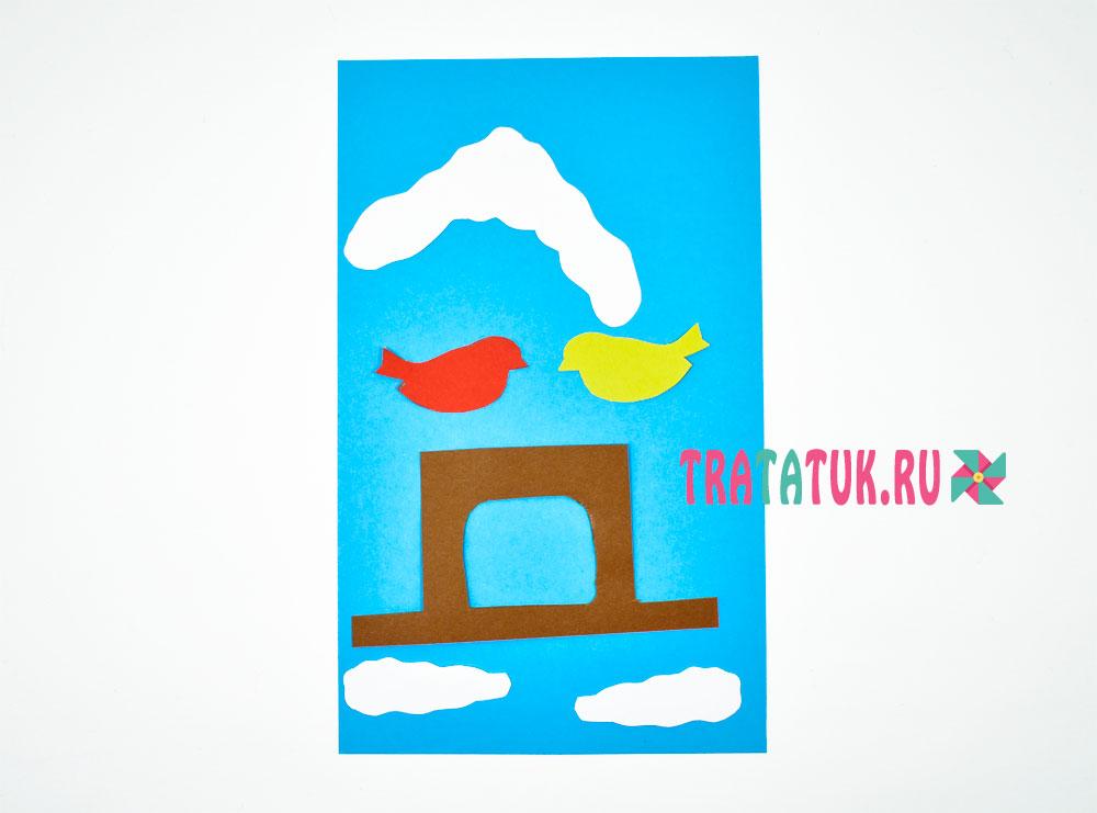 аппликация «Кормушка для птиц»