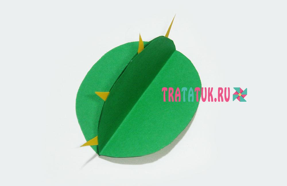 аппликация с кактусом