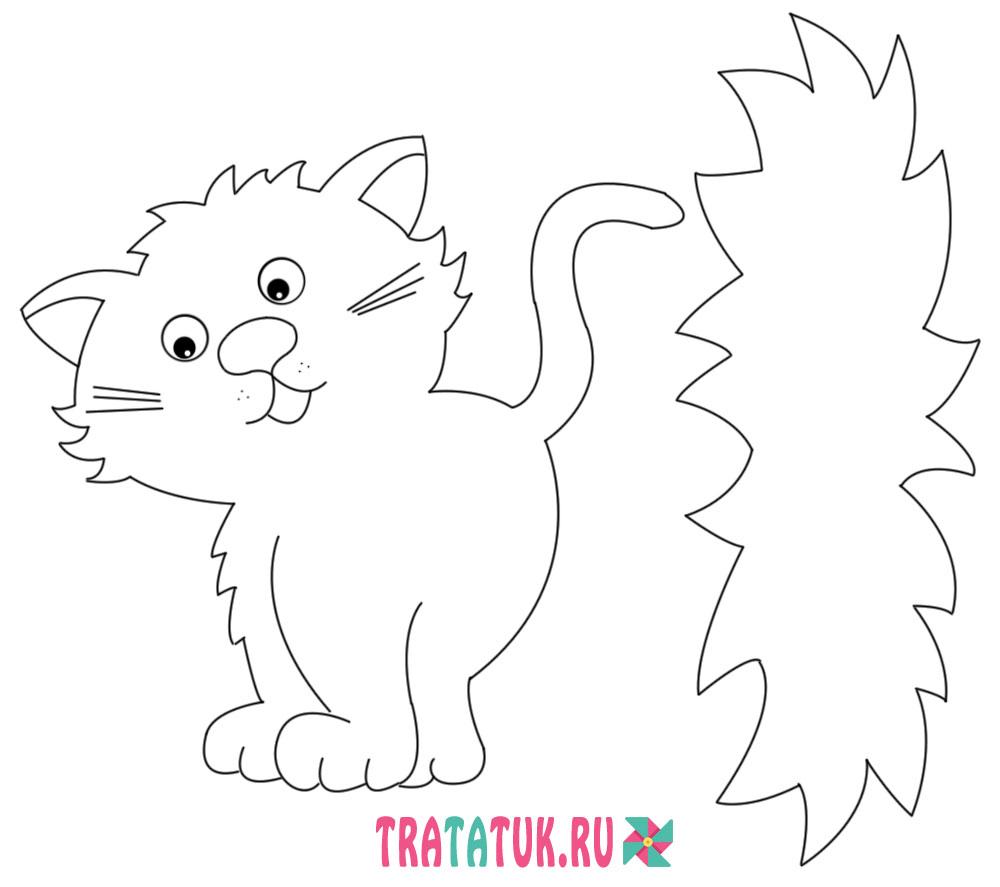шаблон котенка