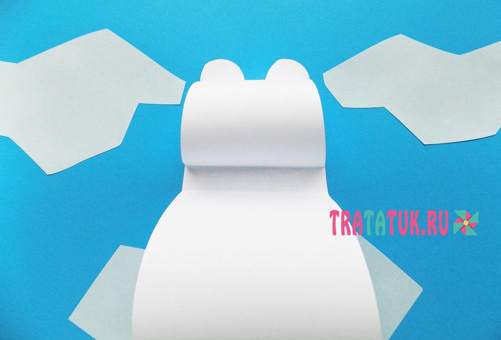 аппликация «Белый медведь на льдине»
