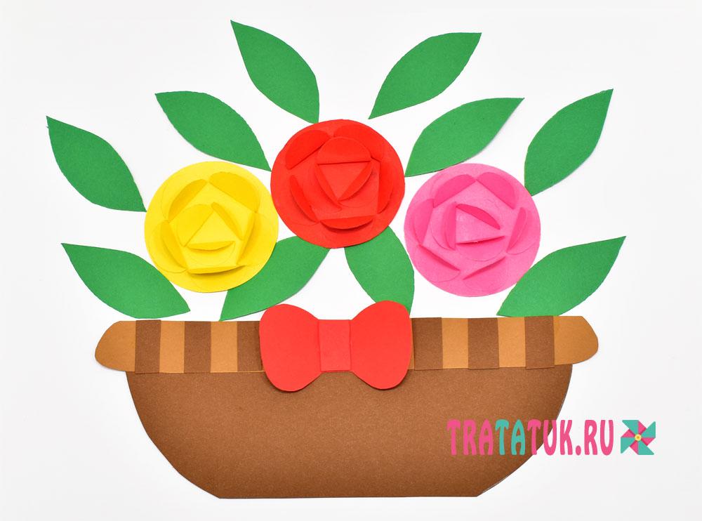 аппликация с розами