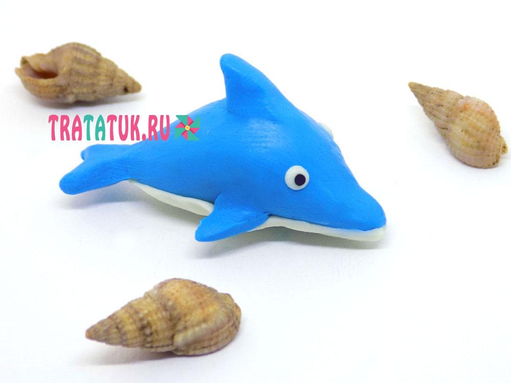Дельфин из пластилина
