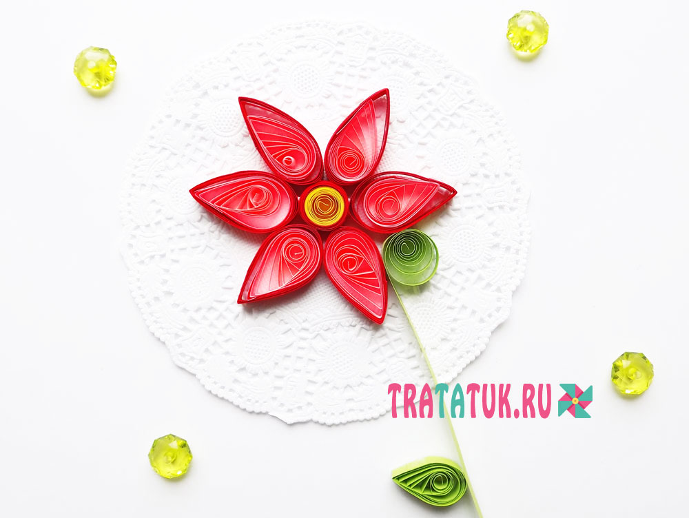 Квиллинг цветок