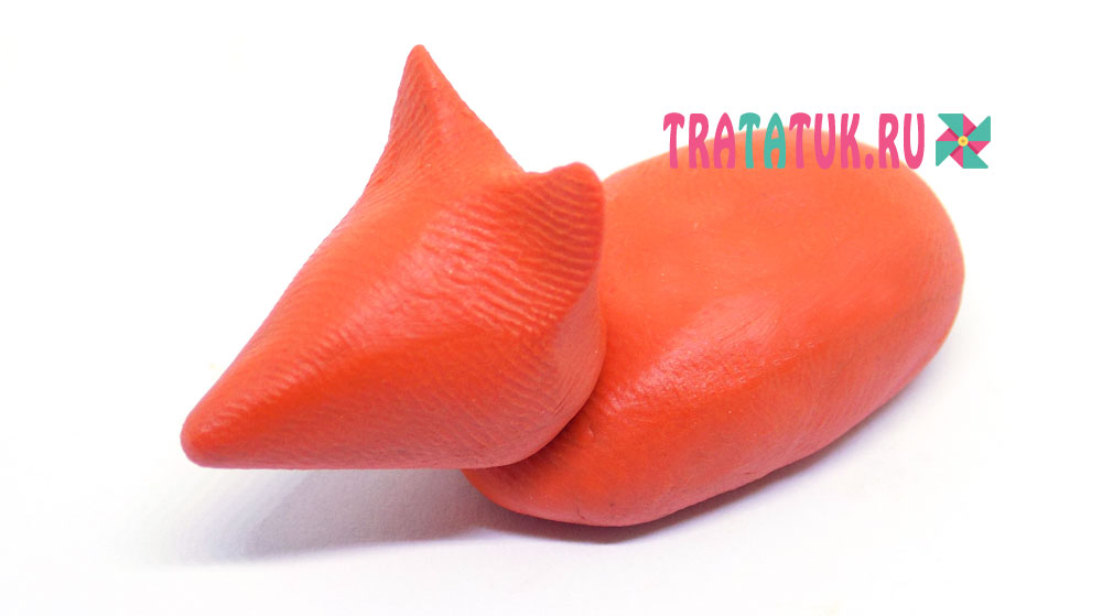 лиса из пластилина