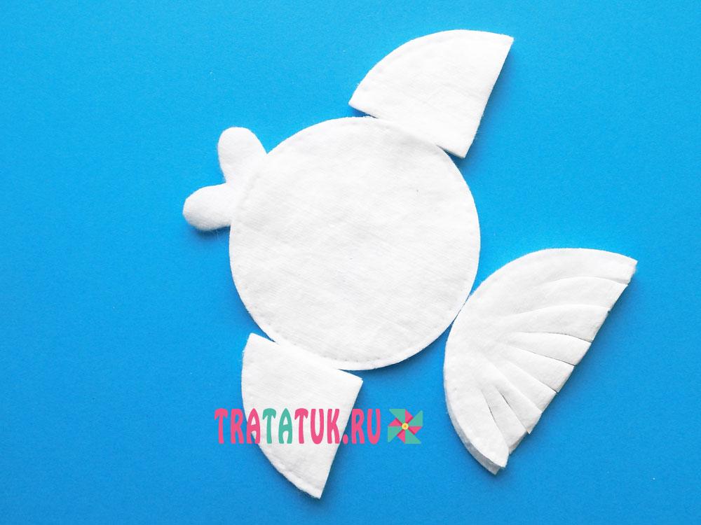 Рыбки из ватных дисков