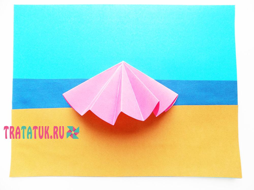 аппликация «Летний пляж»