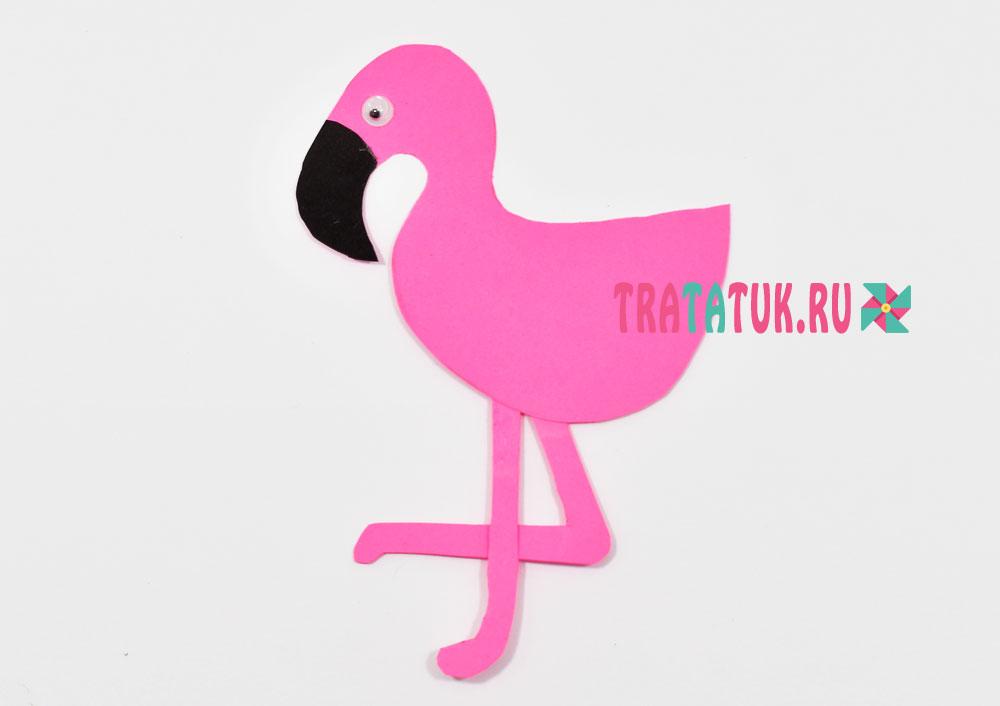 Фламинго из бумаги