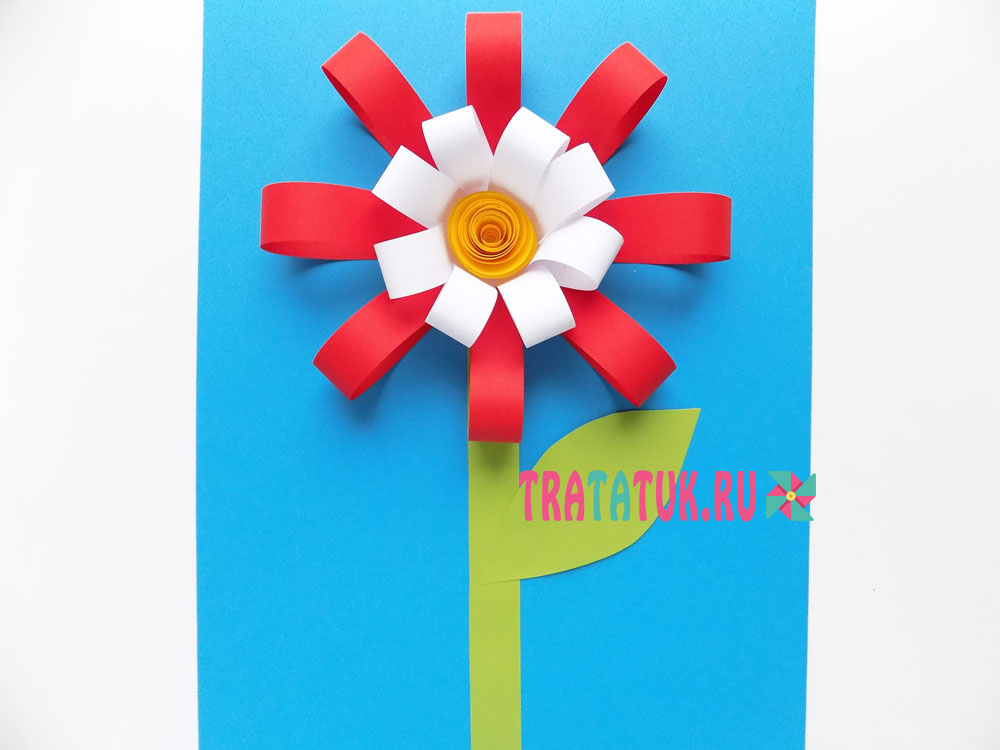 цветок объемный