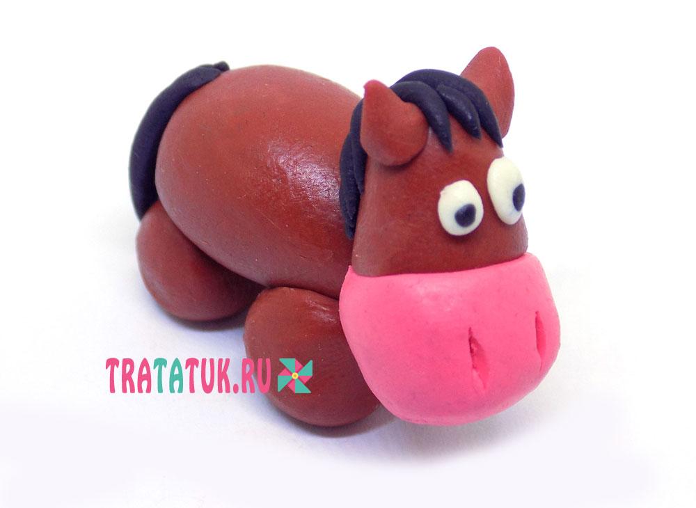 Лошадка из пластилина