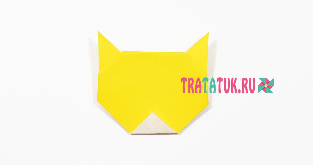 Тигр оригами для детей