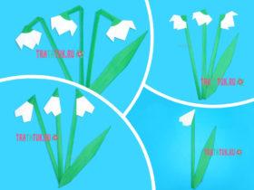 Подснежник оригами: 3 пошаговых варианта